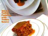 Recipe Egg and eggless sticky toffee pudding with toffee sauce