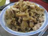 Recipe Preserved chinese vegetables (mustard green) with pork stir-fry recipe