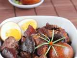 Recipe Braised pork belly in soy sauce (tau eu bak)