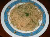 Recipe Garlic and parsley spaghetti