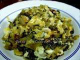 Recipe Pak gad dong pat khai (stir-fried pickled mustard green with eggs)