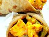Recipe Husband's treat- paneer tikka kathi roll