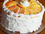 Recipe Cake of the week: summer peach chantilly cake