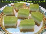 Recipe Tri-layer steamed tapioca kueh (bingka ubi)