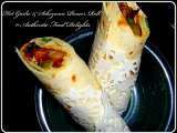 Recipe Hot garlic & schezwan paneer roll