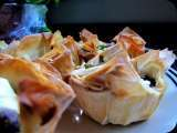 Recipe Goat cheese and mushrooms in phyllo cups