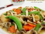 Recipe Shimeji stir-fried with mixed vegetables
