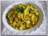 Recipe Vegetable poha(beaten rice and vegetable mix)