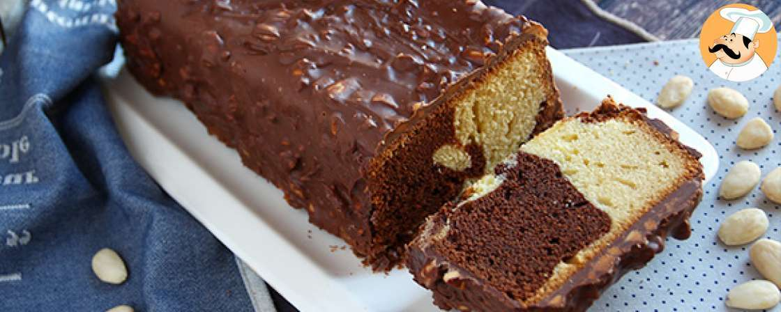 Crunchy marble cake