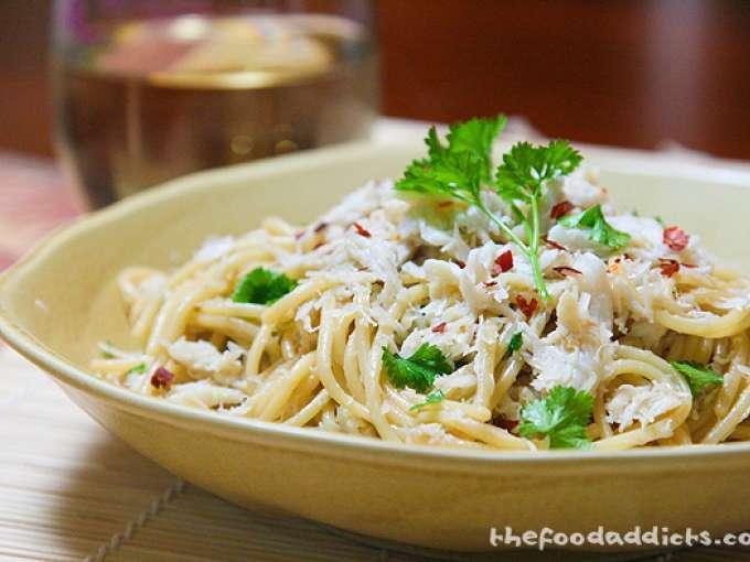 Crab garlic noodles, Recipe Petitchef