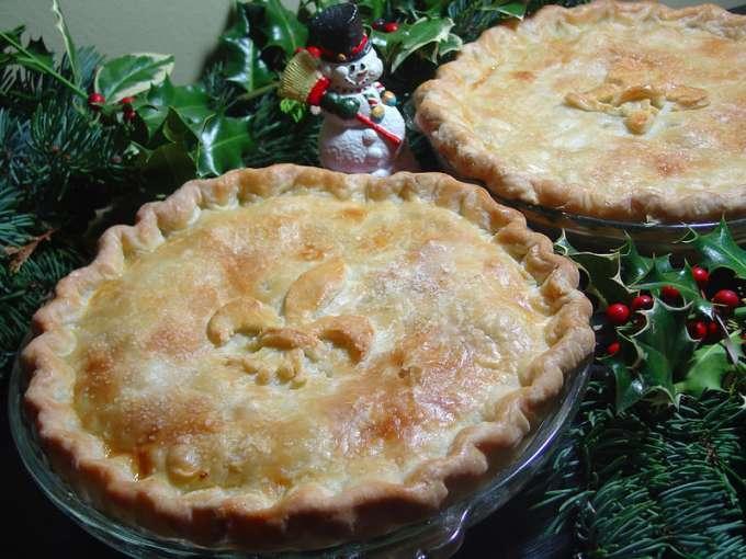 Traditional christmas eve tourtiere