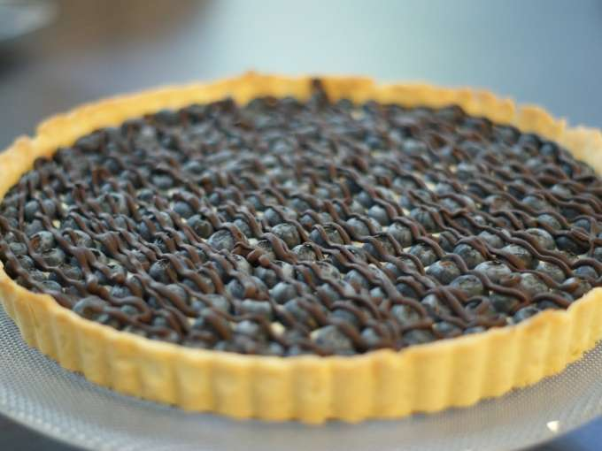 how to make blueberry cheese tart
