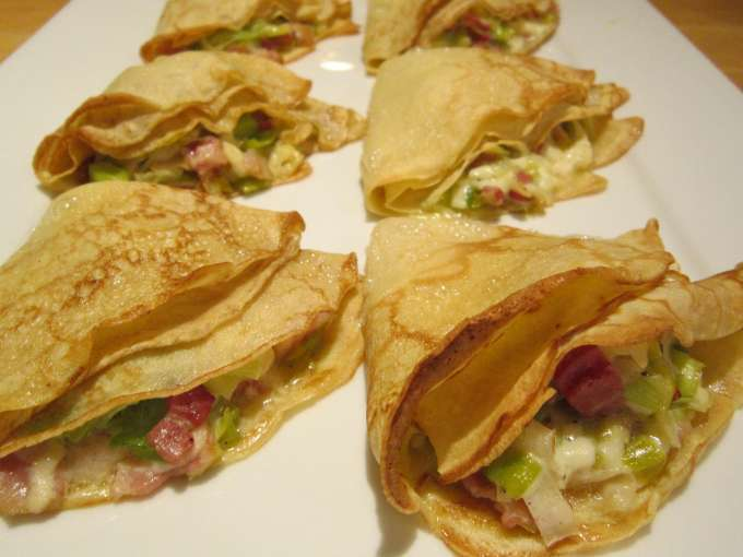 Galettes poireau-fromage (buckwheat crepes with leeks and cheese ...