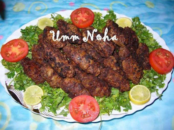 Fried minced beef kofta