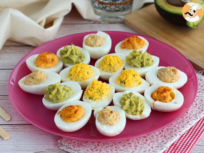 Deviled eggs, 4 ways