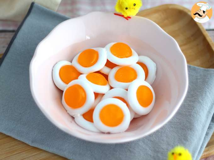 Easy gummy fried eggs