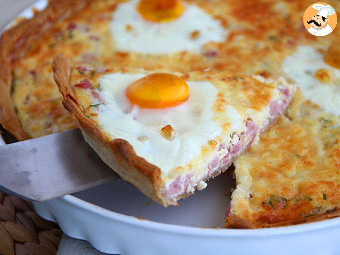Ham and eggs quiche