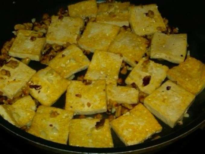 Caramelized tofu with toasted walnuts and brussels sprouts, Recipe ...