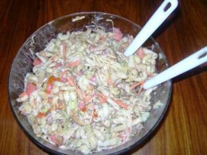 Pasta and chicken salad