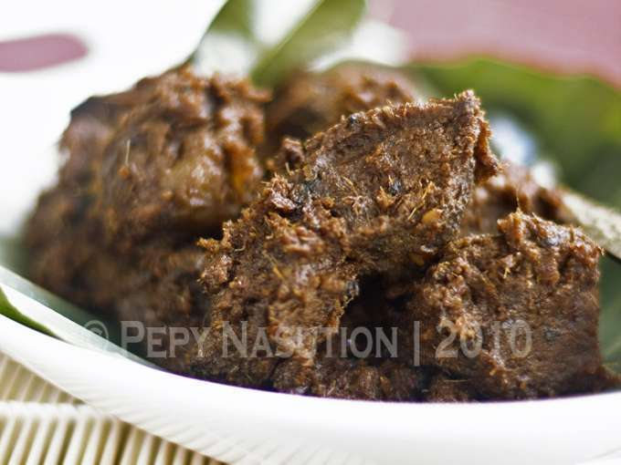 Beef rendang - rendang daging, Recipe Petitchef