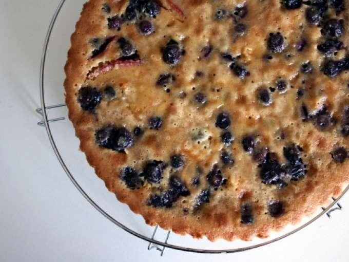 Blueberry almond custard tart, Recipe Petitchef
