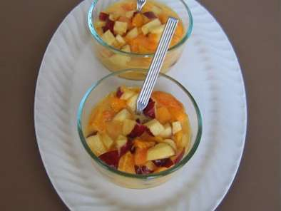 Recipe Mixed fruit custard with a twist