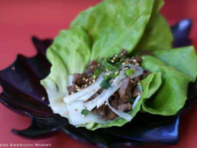 Recipe Korean beef bbq living lettuce wraps & a giveaway