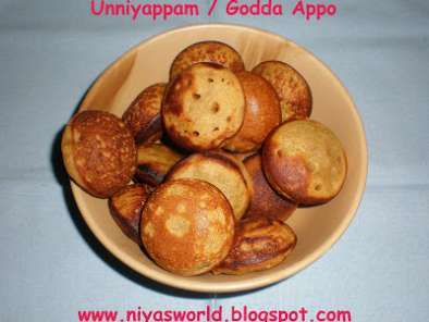 Recipe Unniyappam / godda appo ( with rice flour, whole wheat & jaggery )