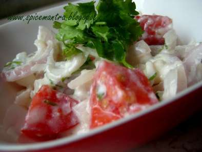 Recipe Simple onion and tomato salad