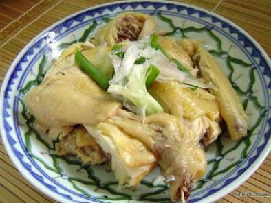 Recipe Rice cooker steamed chicken rice