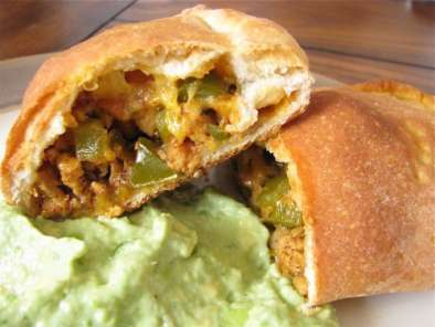 Recipe Taco calzones with avocado cream