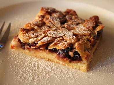 Recipe Storecupboard baking: black cherry & almond slice