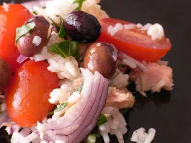 Recipe Rice salad with taggiasca olives and ligurian extra virgin olive oil