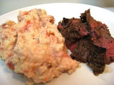 Recipe Marinated grilled flank steak with blt-smashed potatoes