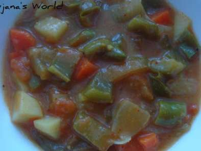 Recipe Mixed vegetable curry(using curry powder)
