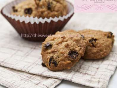 Recipe Oatmeal with raisin & cashew nut cookies