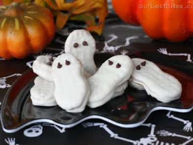 Recipe Super easy halloween nutter butter ghost cookies
