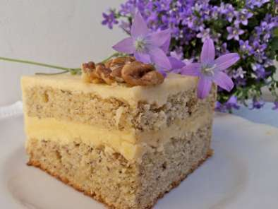 Recipe Banana cake with honey and cinnamon frosting