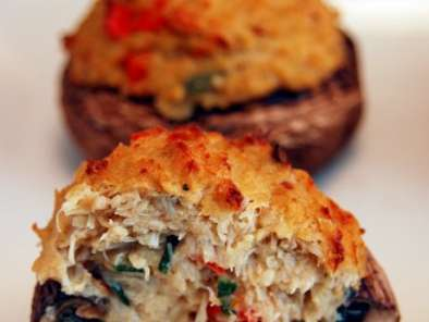 Recipe *crab stuffed mushrooms with horseradish dipping sauce