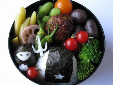 Recipe Quail egg ninja & star onigiri?yes, you too can have a food ninja bento!!