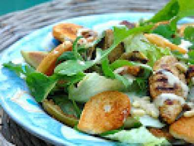 Recipe Grilled chicken, fig and rocket salad