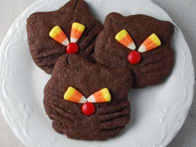 Recipe Halloween recipe-black cat cookies