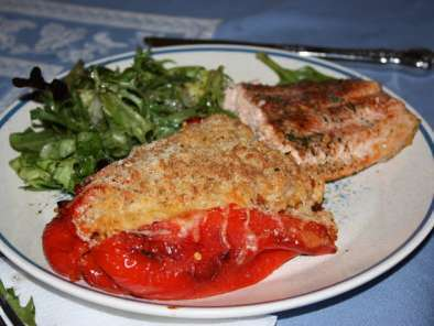 Recipe Spanish style stuffed red peppers