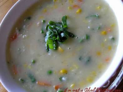 Recipe Sweet corn vegetable soup