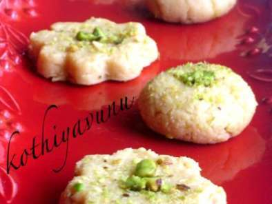 Recipe Milk sweet /milk/doodh peda - microwave version