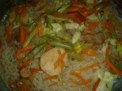 Recipe Pancit bihon (rice stick noodles)