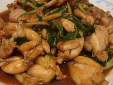 Recipe Stir-fry frog legs with ginger and spring onion