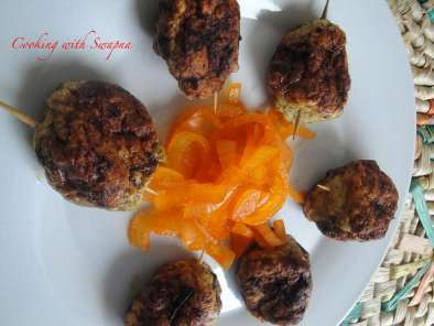 Recipe Minced mini chicken kebabs