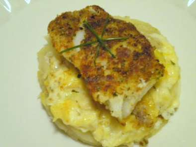 Recipe Bread crumb topped cod with scalloped potatoes