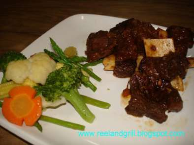Recipe Easy beef spare ribs (short ribs) and steamed veggies